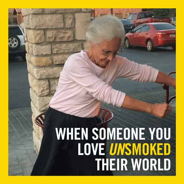 When someone you love unsmoked their world