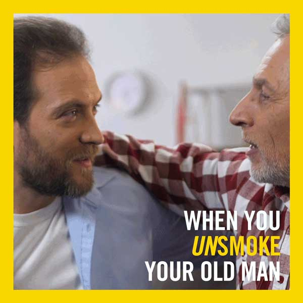 When you unsmoke your old man